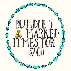 💰Bundle any 5 items marked with a 💰 for 20!!